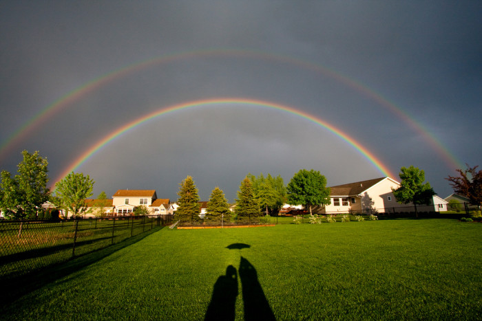 1. This double rainbow is double the magic.