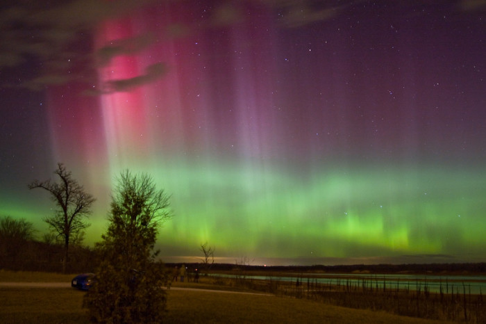1. This absolutely magical view of the Northern Lights above Iowa.
