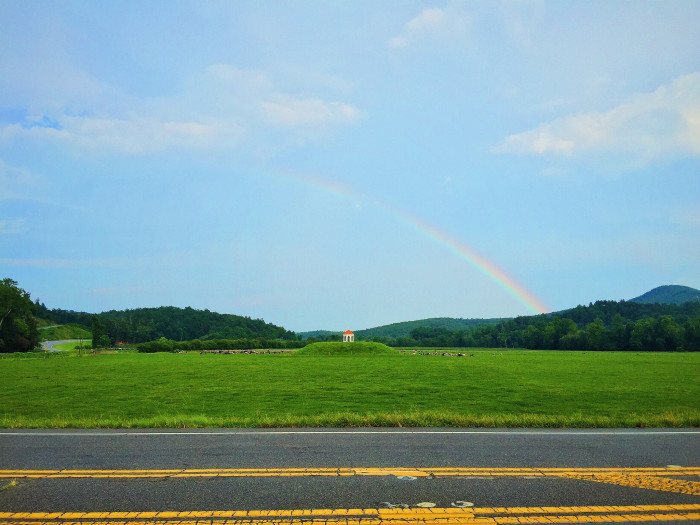 4. Rainbow over an Indian mound at Nacoochie Valley in north Georgia