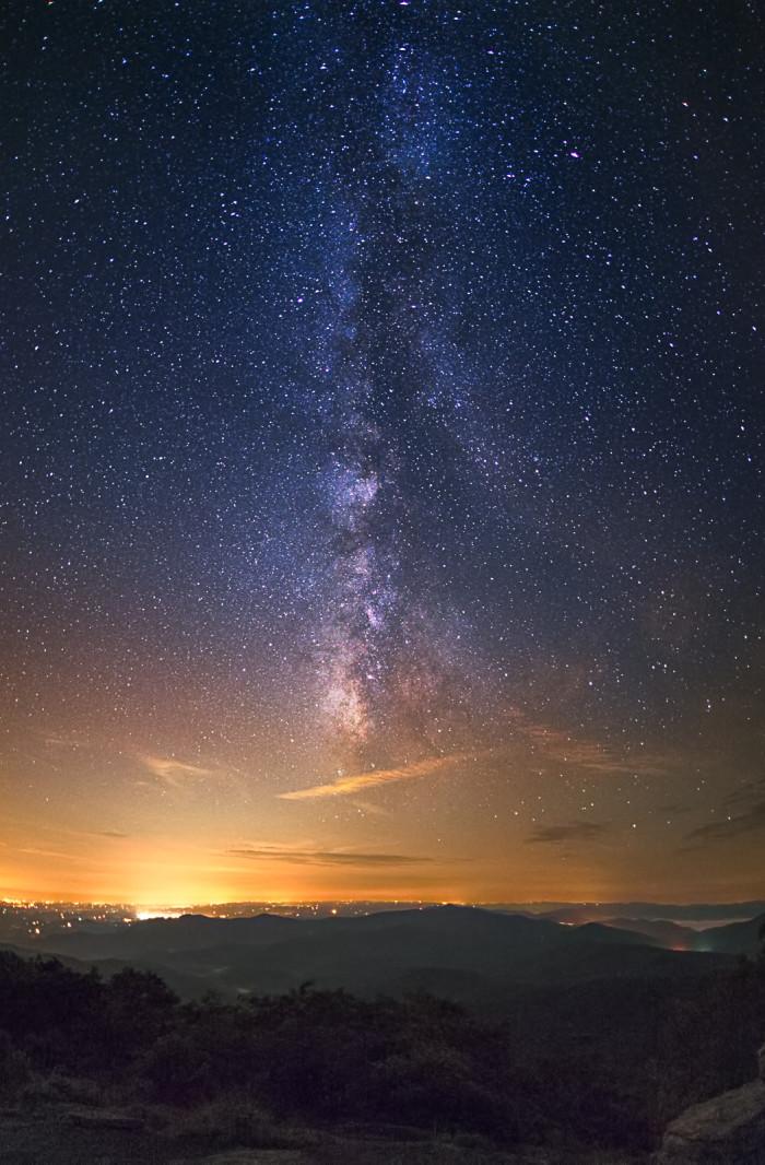 11. Gorgeous sky on Blood Mountain's peak