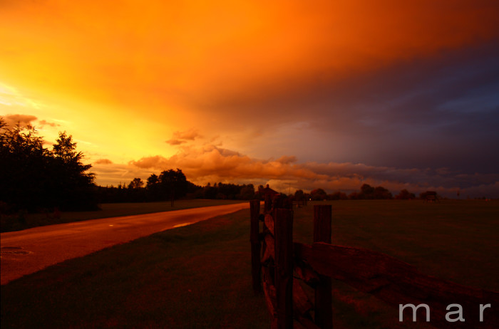 12) As a storm comes in at Shelburne Museum.