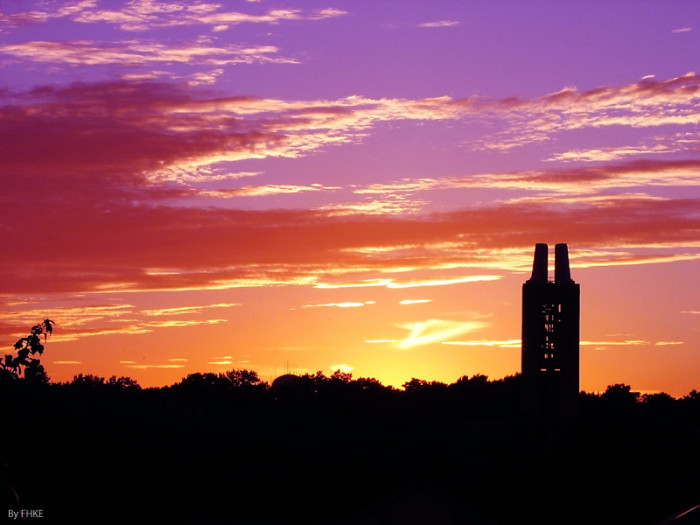 8. Rock Chalk, gorgeous sunset!