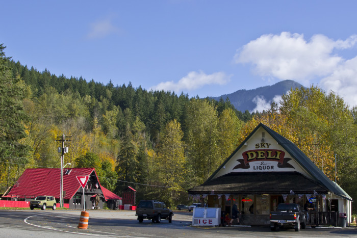 1. A charming shot of the Sky Deli and Liquor Store in Skykomish by Alex Abbott.