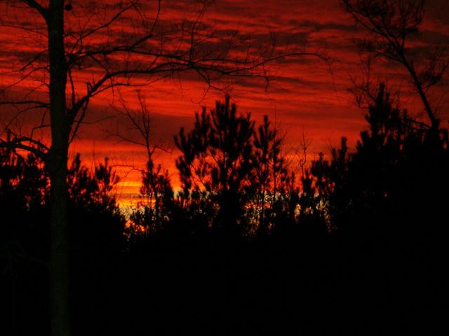 4. Blood red skies