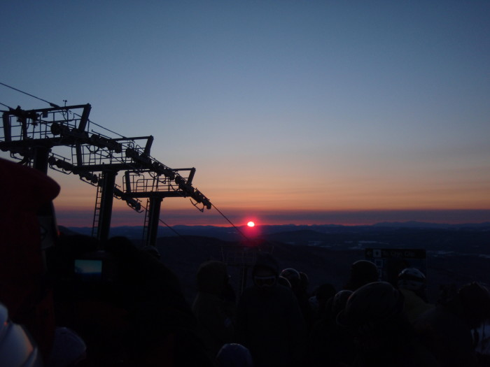 2) Atop Mount Mansfield, Chittenden County.