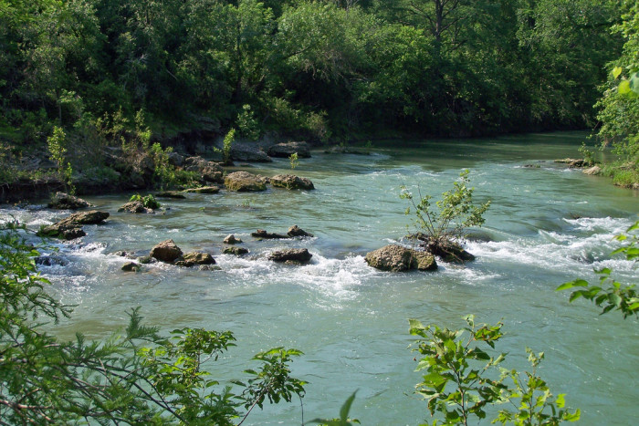 2) The fast-flowing waters of the San Marcos River are perfect for kayaking or tubing!