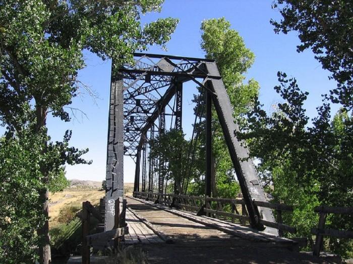 6. A historic 1907 railroad bridge in Wadsworth, Nevada.