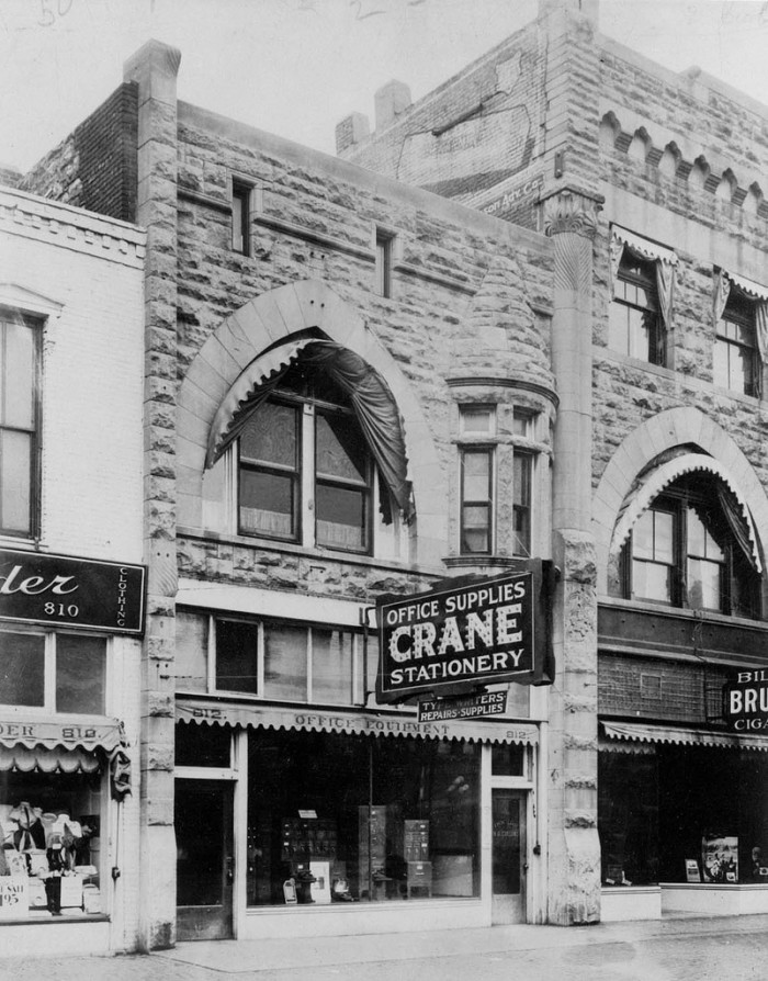 """12. """"Crane Office Supplies and Stationary (Topeka), 1920."""""""