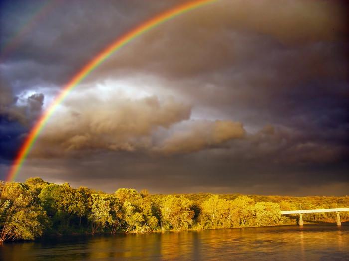 4. A striking shot over the Delaware River near Warren County.