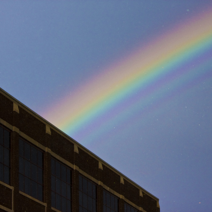 6. Our capitol city shines brightly under this phenomenal rainbow!