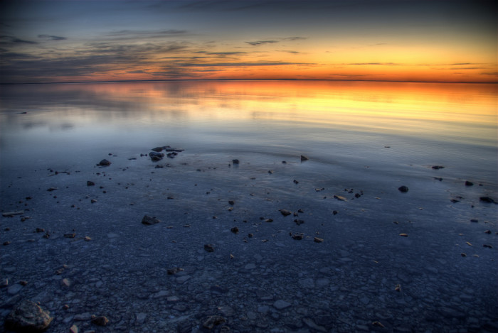1) Lastly, we've got an entire coastline on Lake Huron called the Sunrise Side, known for its magnificent sunrises.