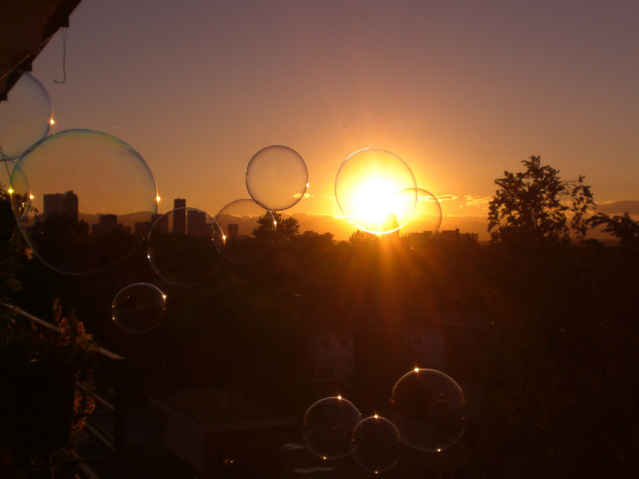 8. A whimsical Denver sunset.