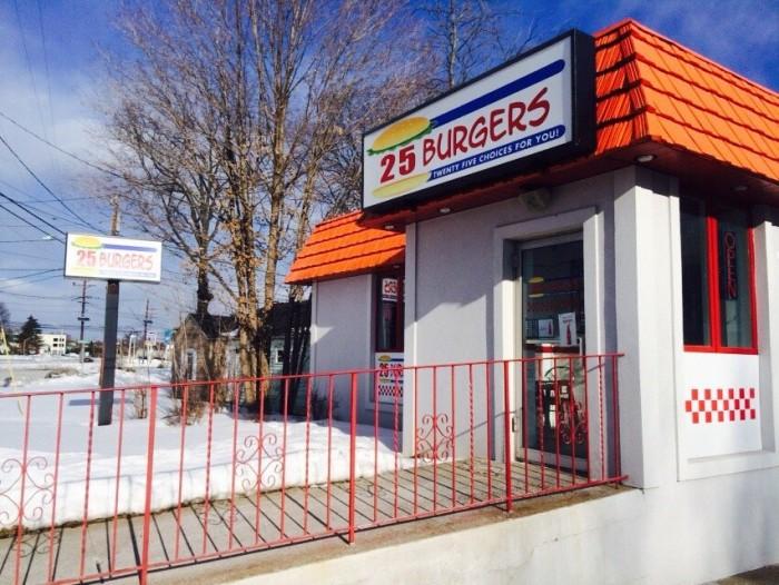 9. 25 Burgers, Multiple Locations