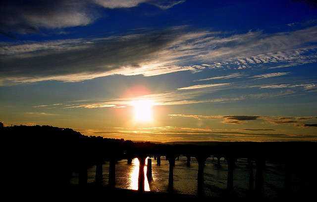 6. As if this sunset isn't beautiful enough to begin with, we get to see it reflected in Susquehanna River.