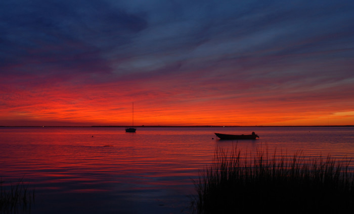 6. I'm loving these colors over Long Beach Island.