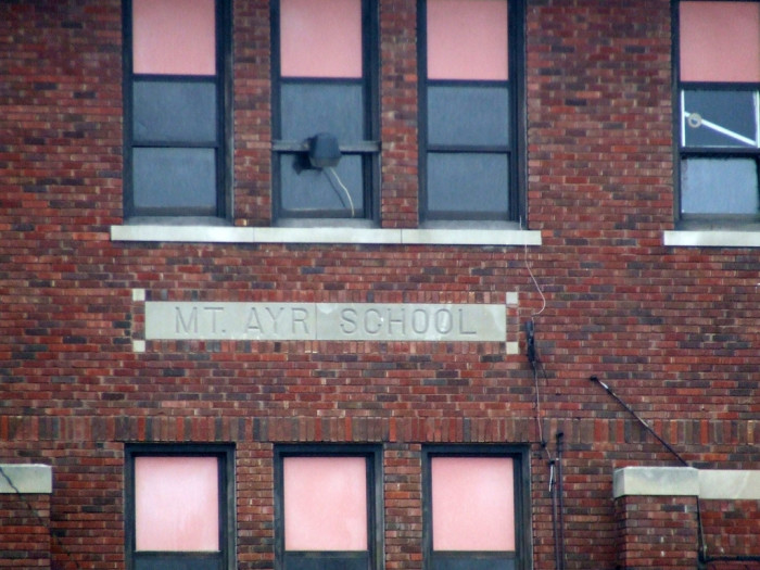 3. Check out Mount Ayr School  an abandoned school in Mount Ayr! Spooky!