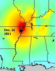 3. Earthquakes may not be common in Mississippi, but in 1811 and 1812 a series of earthquakes in the New Madrid, Missouri area could be felt in Mississippi as far south as the Gulf Coast. These earthquakes caused the banks of the Mighty Mississippi to cave in as far as Vicksburg.