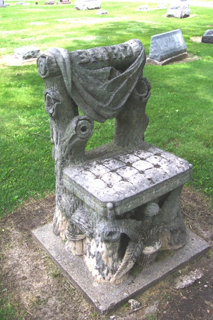 3. The Baird Chair (or The Devil's Chair), Highland Park Cemetery, Kirksville