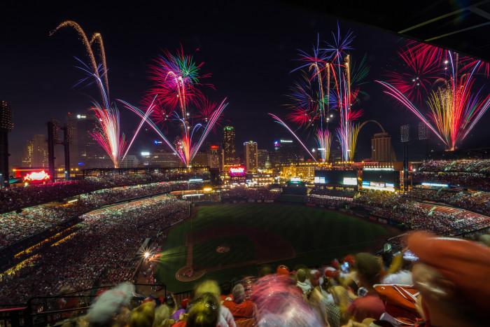 3. Busch Stadium, St. Louis, 4th of July