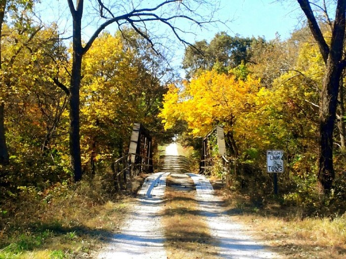 3. Bright and cheery during the day, but something tells me at night this place might be spooky.  Taken by Leah Davidson at Fanning Bridge, south of Perry.