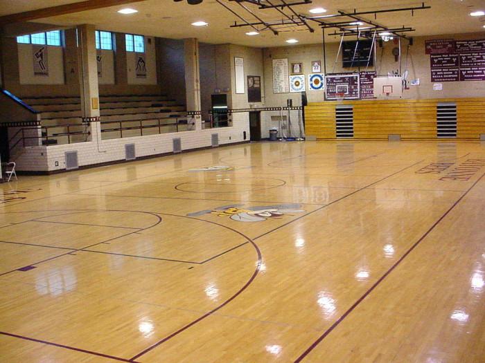 4. The basketball player of Blacksburg Middle School gym