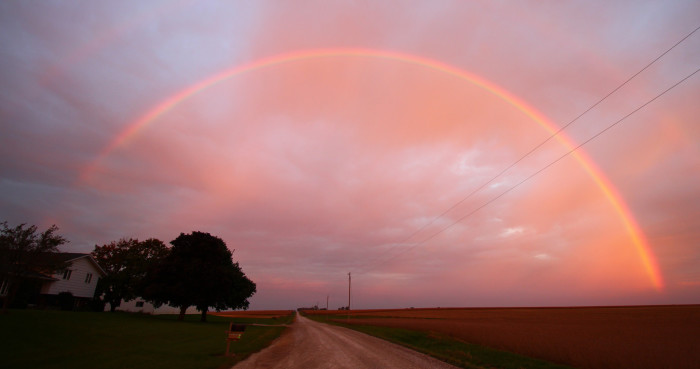 3. This rainbow at dusk is completely enchanting.