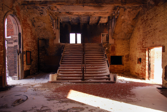 2. Check out this abandoned school auditorium in Gary!