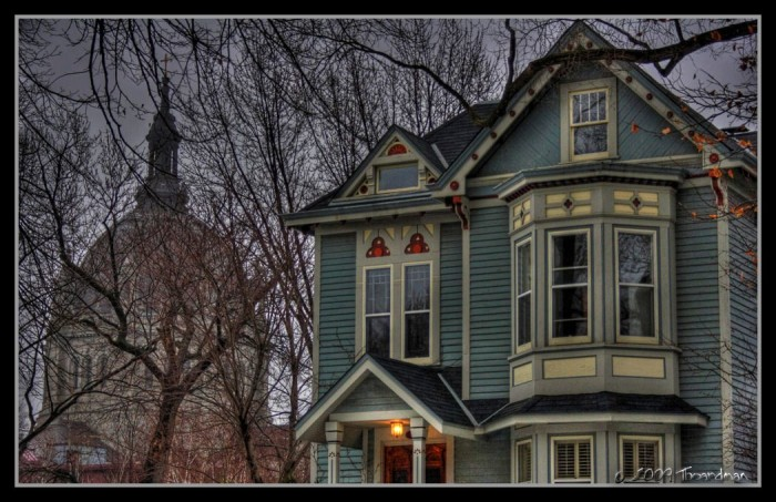 9. Another St. Paul classic, in the winter lighting this Victorian hardly seems habitable for the living.