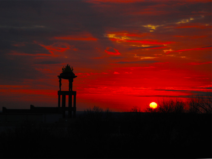 12) And I leave you with an unforgettable red sunrise captured by Suzie in Austin, Texas.