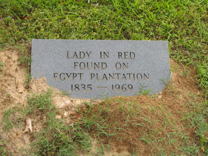 2. The Grave of the Lady in Red in Old Fellows Cemetery, Lexington
