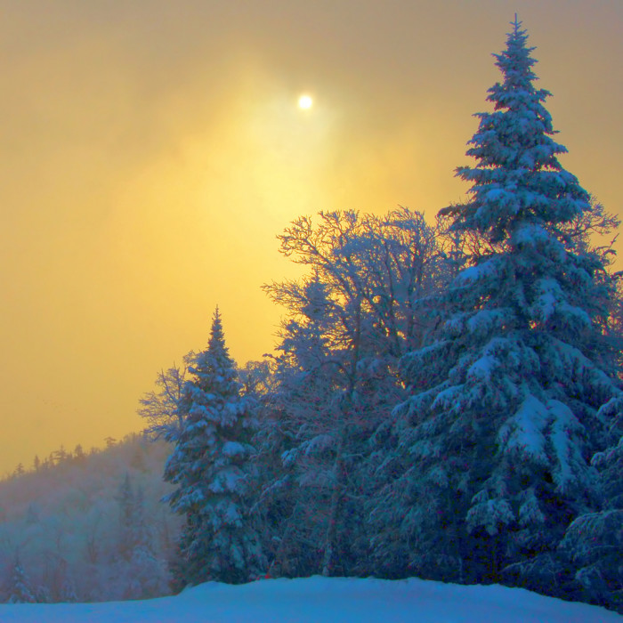 3) More specifically, the Sunrise Trail at Stowe Mountain Resort.