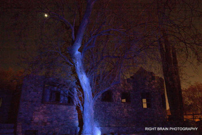 2. Bare trees and a moonlit night only makes this dilapidated stone house at South Mountain even more creepy.