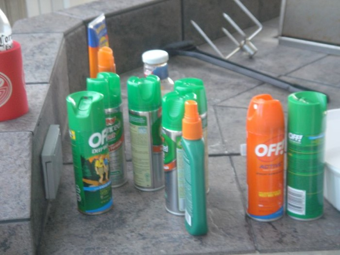 3. Bug spray is a necessity at your home, especially during the summer.