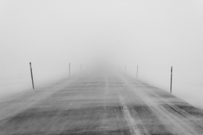 4) Driving through blizzards is NEVER  fun experience. Zero visibility and icy conditions make my stomach turn.