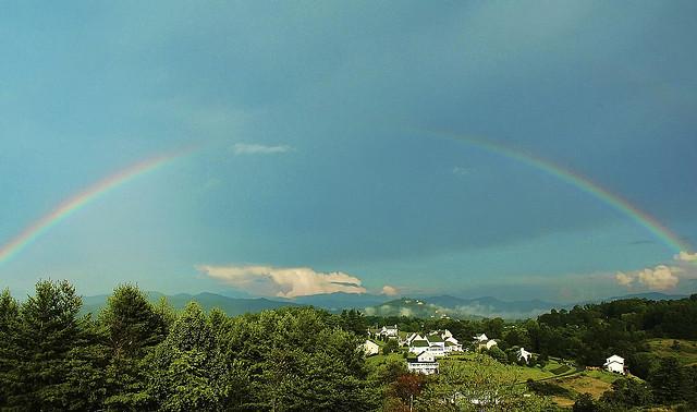 """6. """"Mountain Rainbow."""""""