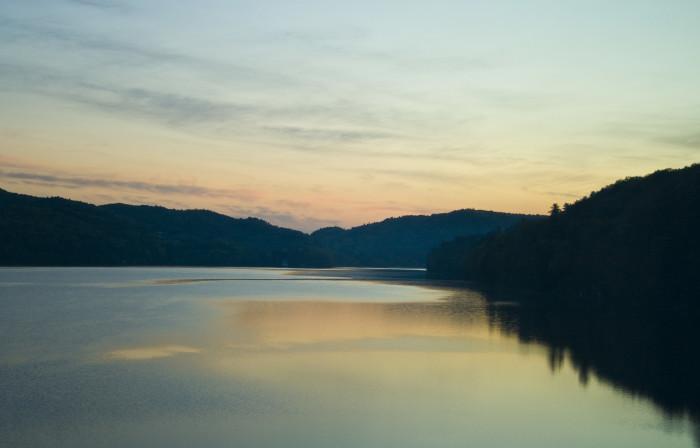 8) This serene view at Lake Morey.