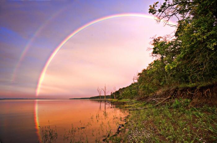 1. Color over Clinton Lake.