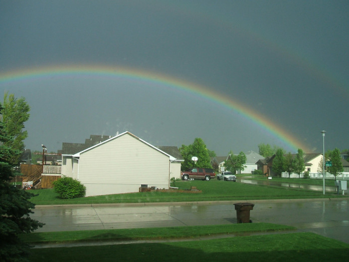3. This picture from Kearney looks peaceful and sweet, but the rainbow actually appeared following a tornado in 2008.