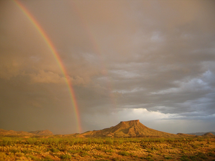 6) Stunning double rainbow captured at Tule Mountain in Big Bend National Park!