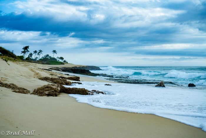 4) Though this photograph taken on Oahu's leeward coast is saturated with shades of blue, the texture of the waves and the clouds make it a truly dynamic landscape shot.