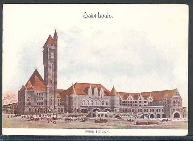 4.Union Station, St. Louis, Missouri, about 1909.