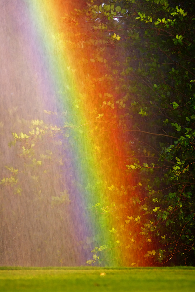 7. Sprinkler Rainbow in Old Key West at Disneyworld