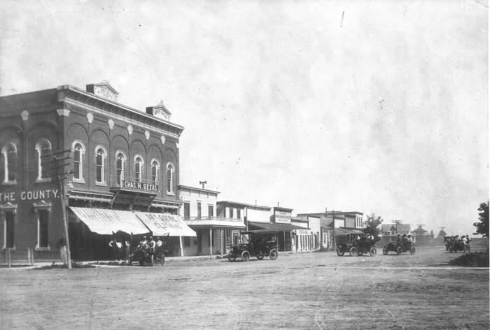 """11. """"Main Street, Hoxie, Kansas c. 1920."""""""
