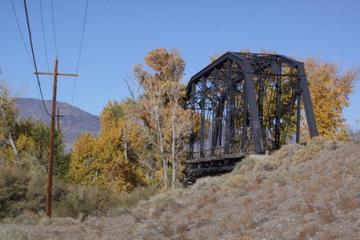 8. Another beautiful railroad bridge, located in Meyer, Nevada.
