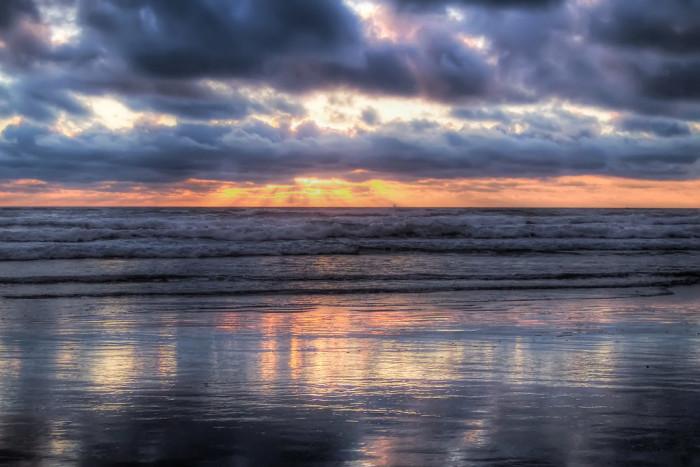 8) Coastal sunset.