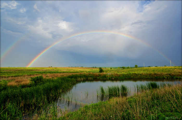 4. This double rainbow near Cedar Falls is absolutely perfect.