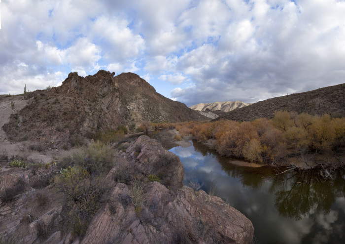 4. The Gila River doesn't see too much waterflow these days but, prior to the building of dams and diversions in the twentieth century, it was known to have a heavy seasonal flow.