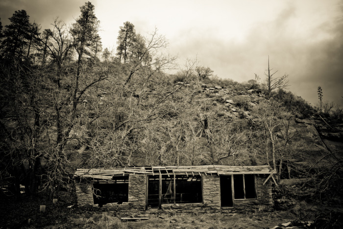 4. This old building was found near Sedona, along the West Fork Trail.