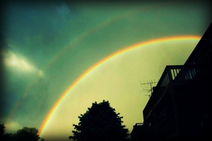 4. Here is another double rainbow taken by the same photographer as #3. I love the coloring of this picture!