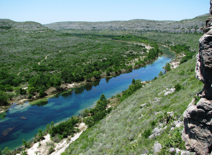 9) The Devil's River is one of the most isolated rivers in Texas, with only a few public access points. All the better to preserve the natural beauty of the area!